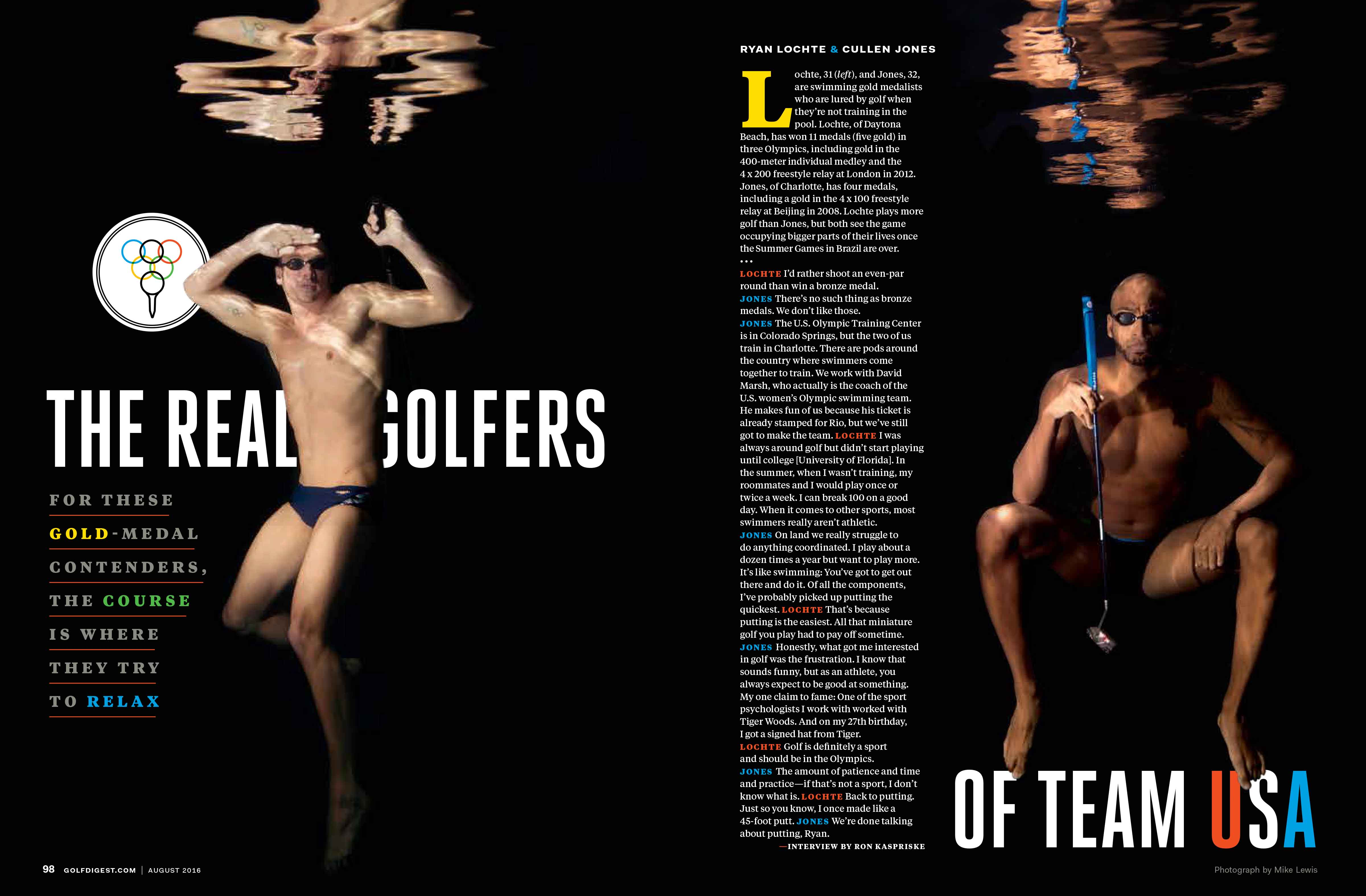 Cullen Jones and Ryan Lochte for Golf Digest by Mike Lewis