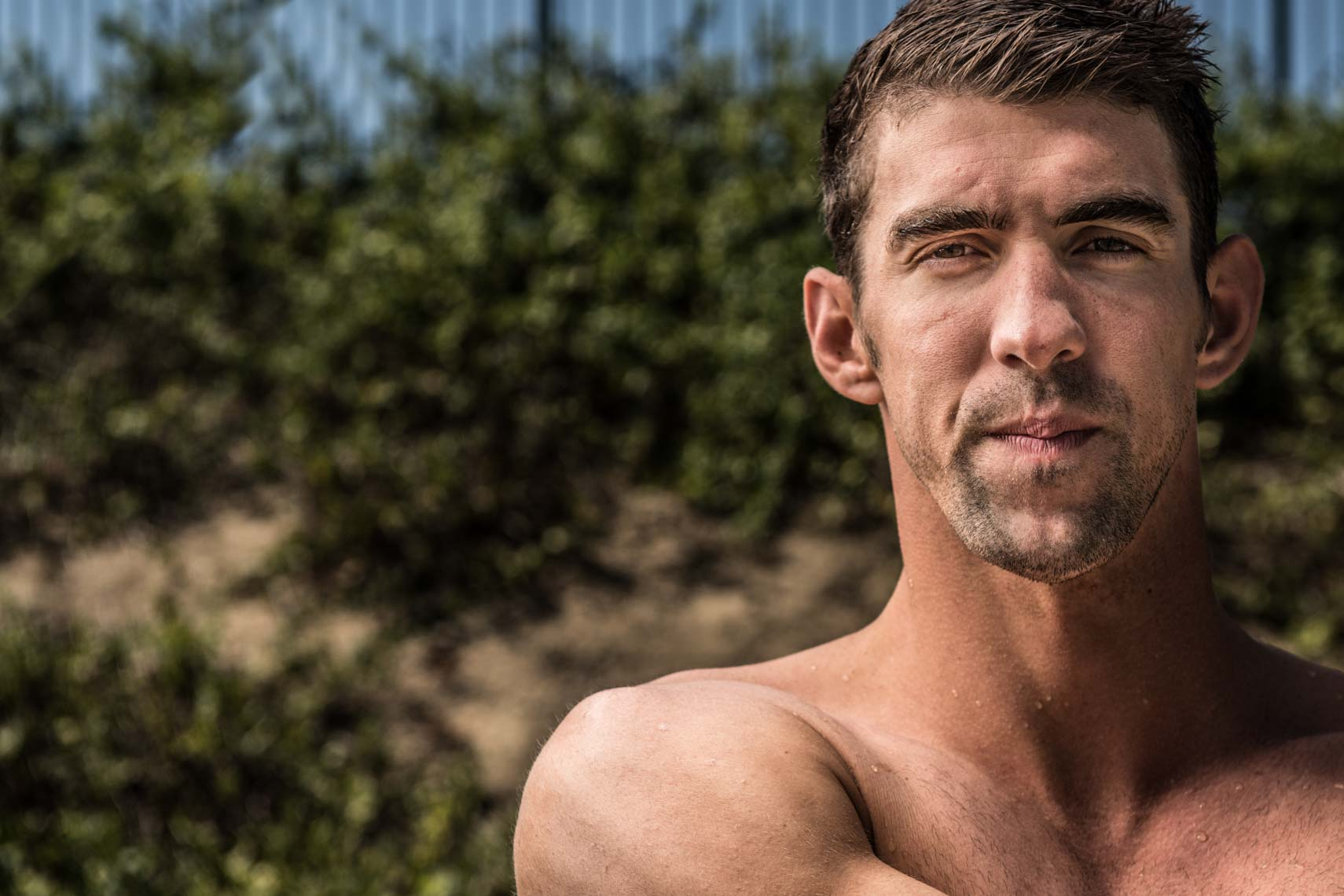 Michael Phelps Portrait by Mike Lewis