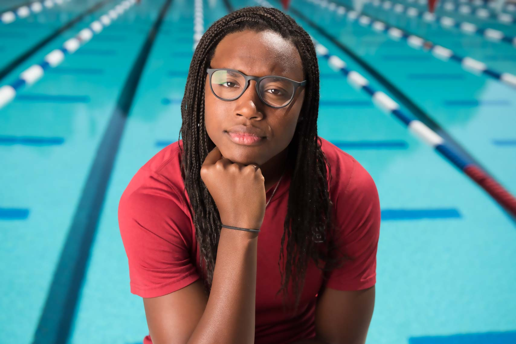 Simone Manuel by Mike Lewis