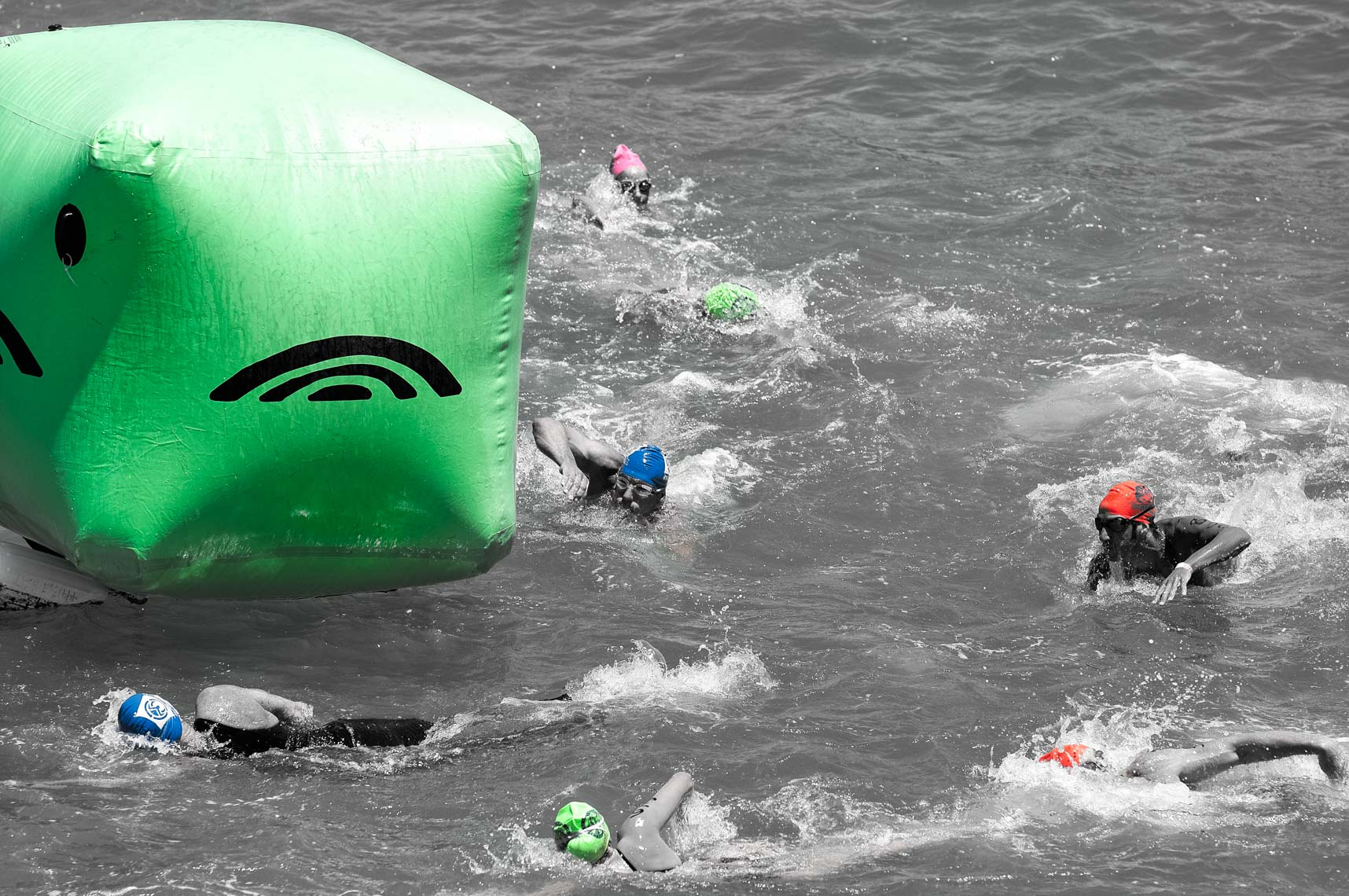 stock open water swimming