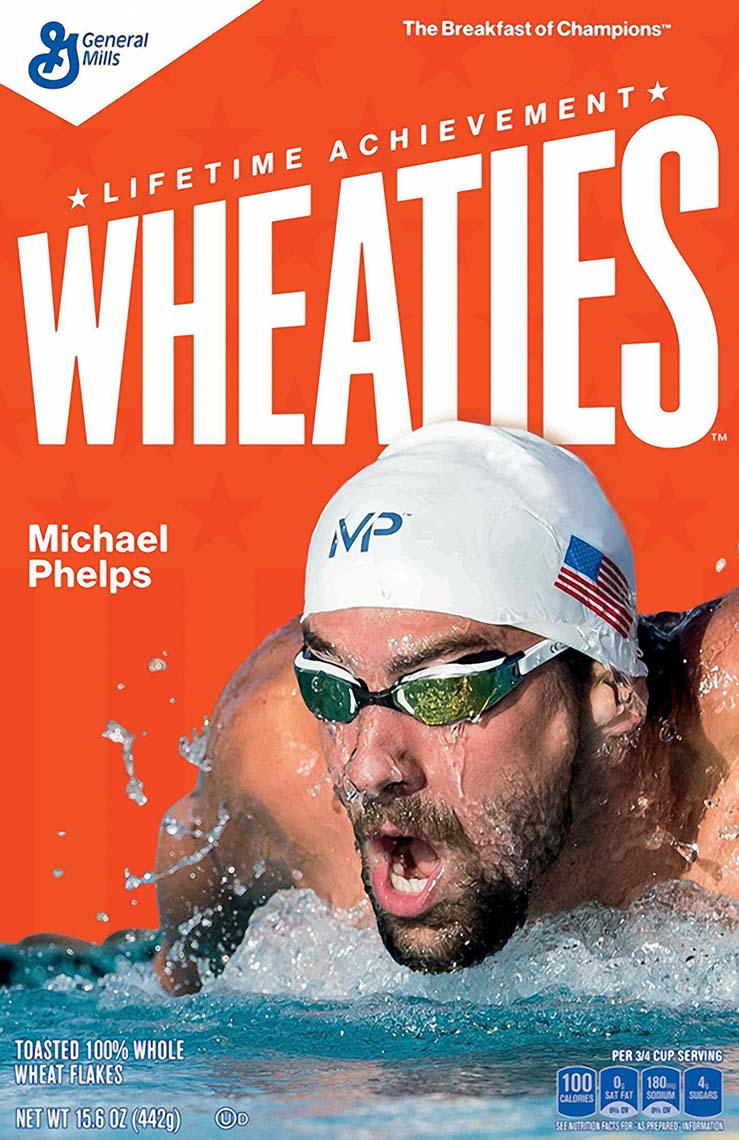 Michael Phelps Wheaties Box by Mike Lewis