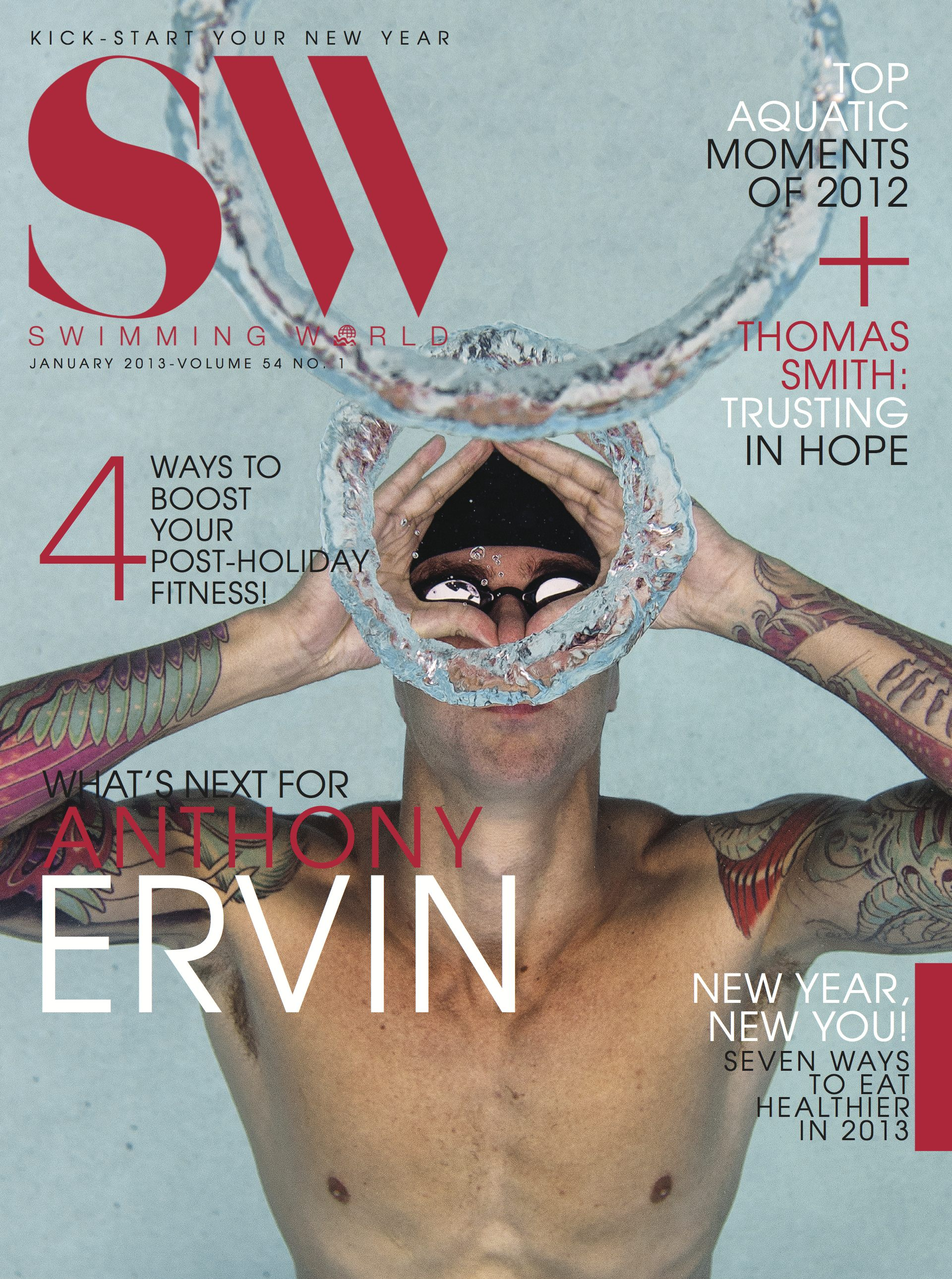 Swimming World Cover Anthony Ervin