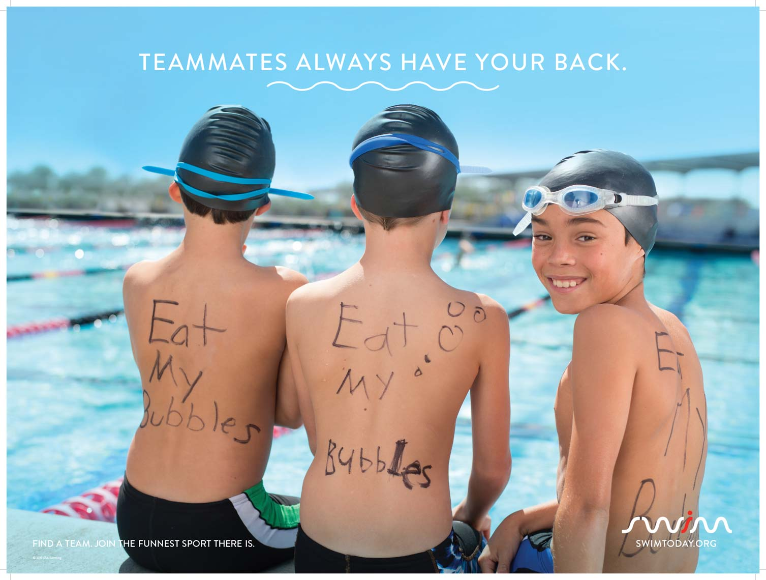 USA Swimming Swim Today Advertising Campaign by Mike Lewis