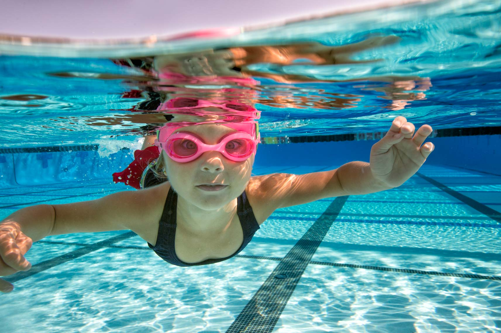 underwater girl swimmer